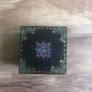 Hand painted Small wooden jewelry box